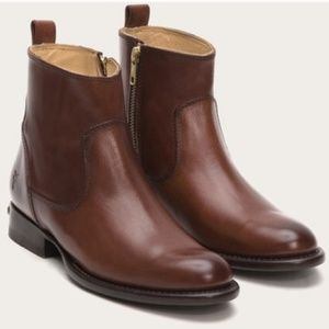 Frye danielle cognac short leather boot
